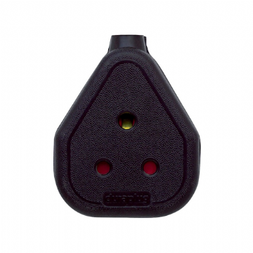 Duraplug FC153 15amp Rubber Cable Socket, Black